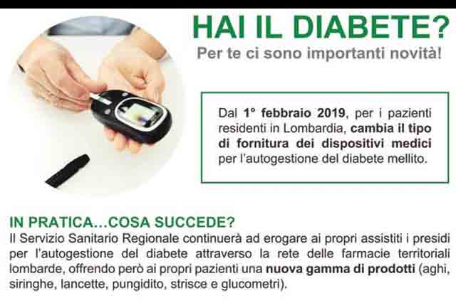 Fornitura presidi per diabetici ASL Insubria